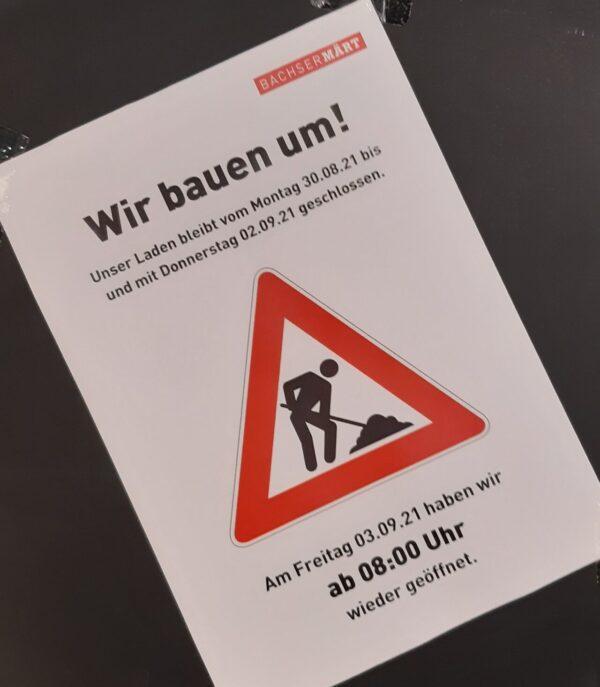 Umbau-Infrormationen BachserMärt Eglisau